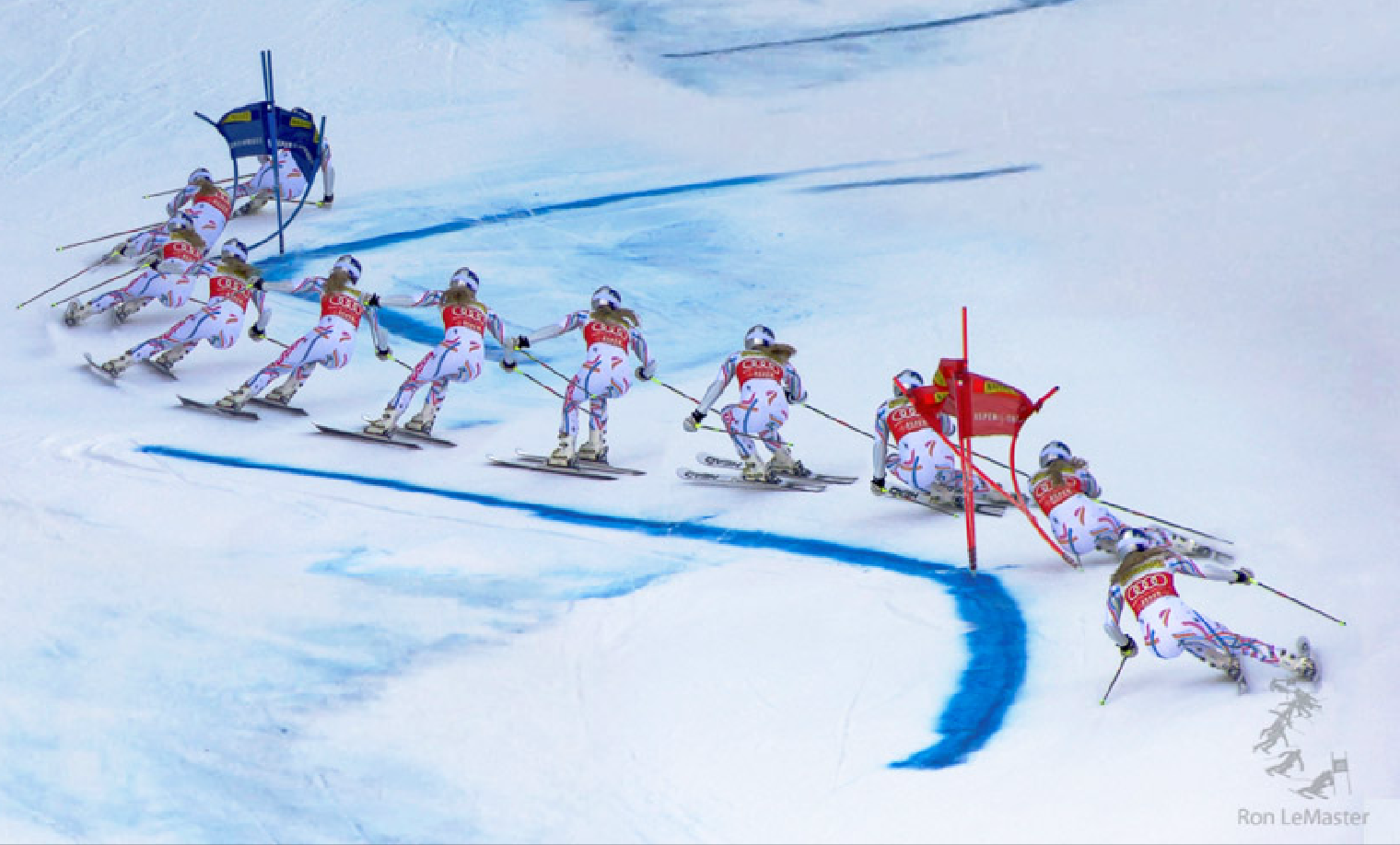 The techniques of giant slalom turn