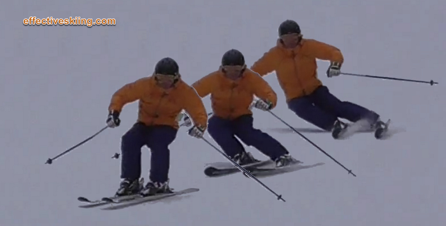More edge angle make for dynamic skiing
