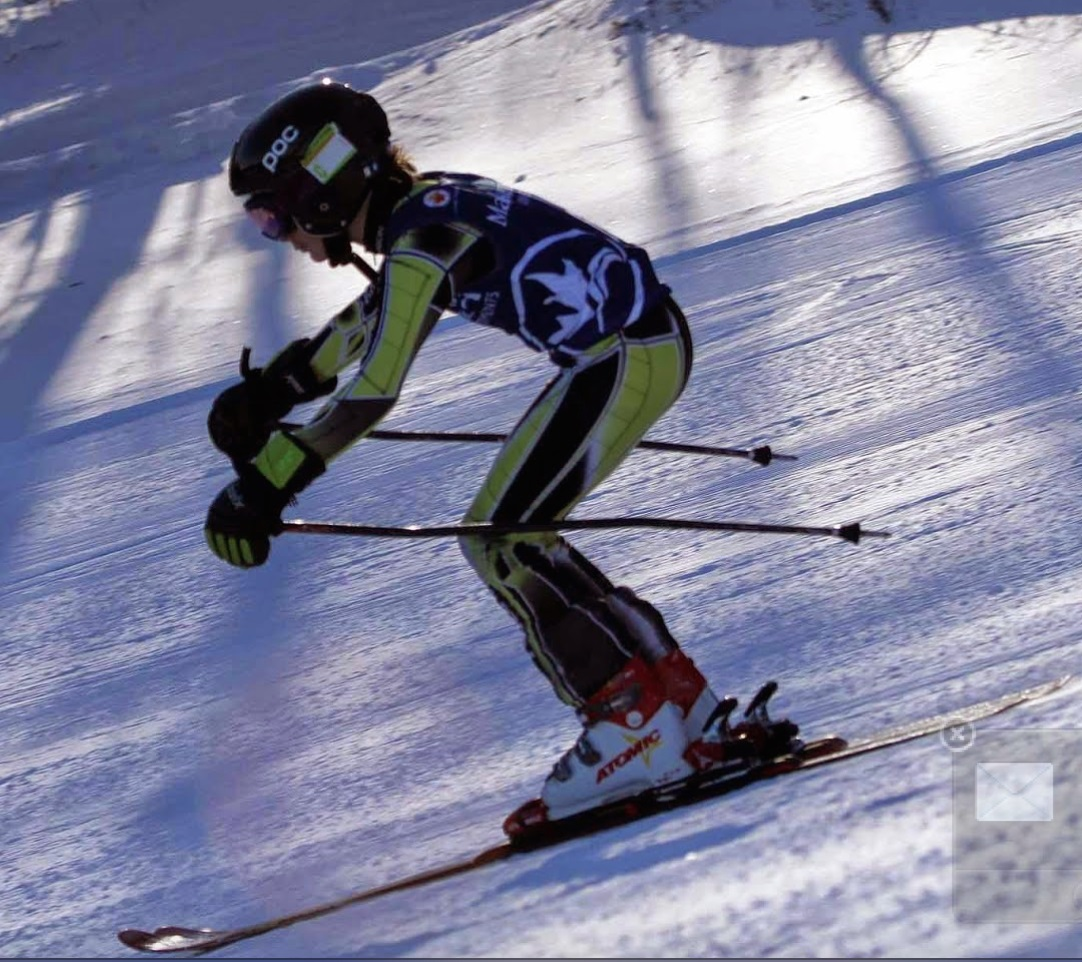 Lesser skilled skiers tend to hunch over at the hips, along the length of the skis, as above, but forward really is the relationship between the hips and boots, in time and space.