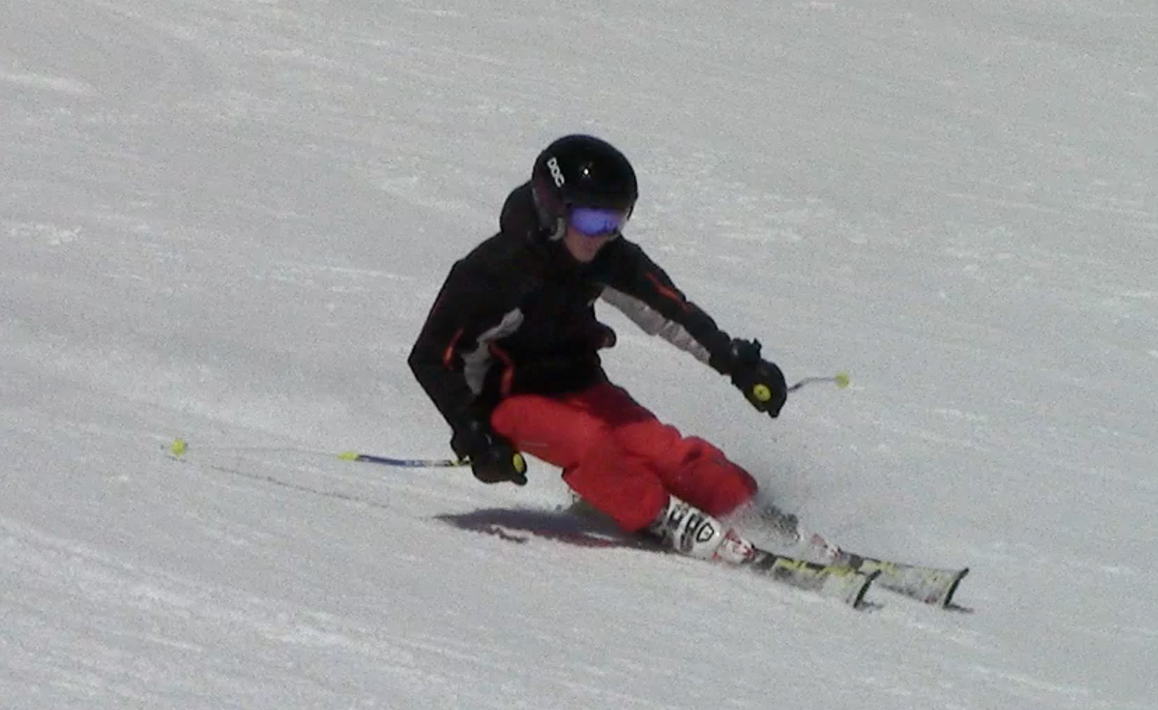 High performance skier with balance and overall relaxation