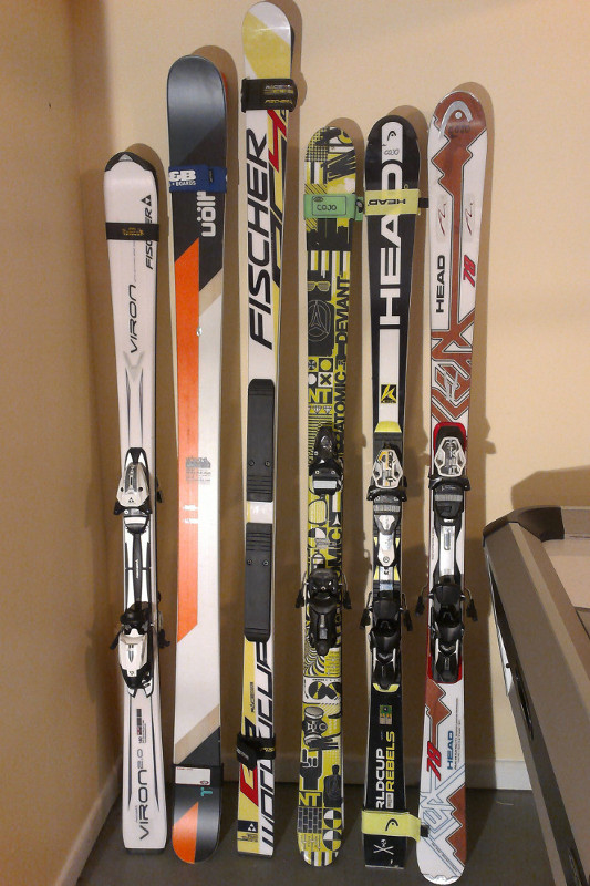 Many types of skis