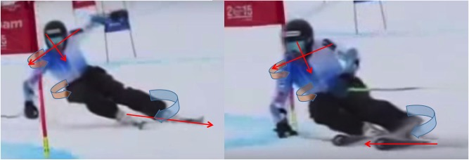 Controlling angular momentum and coiling. Skier: Ted L.
