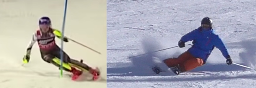 Comparing skiing and analysis